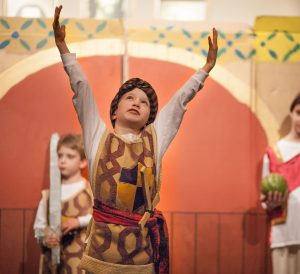 Holistic View, Holistic Learning, Holistic Education in action with children acting in a spiritual play