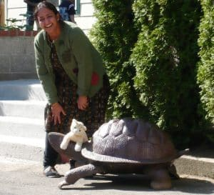 sonali and turtle
