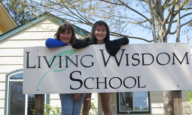 Living Wisdom School sign